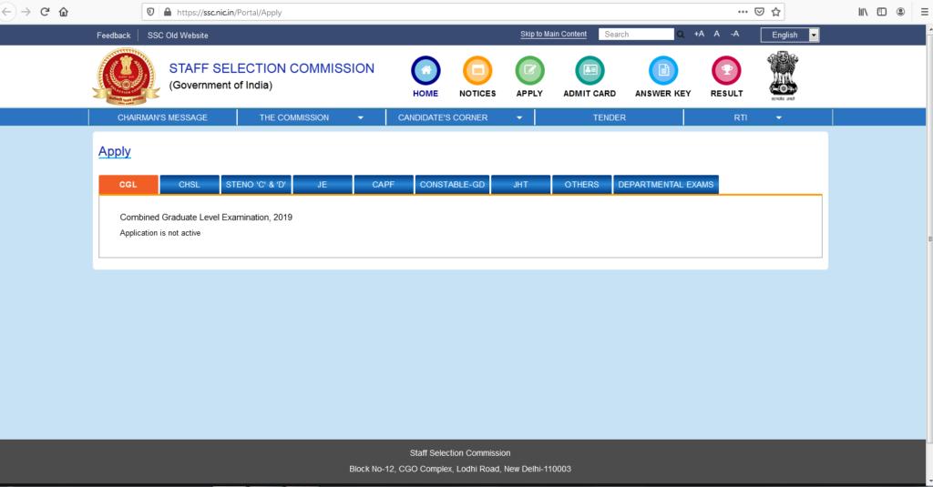 SSC APPY ONLINE FORM LINK WEBSOTE OFFICIAL