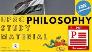 upsc philosophy study material